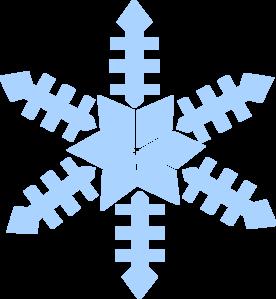 276x299 Blue Snowflake Clip Art