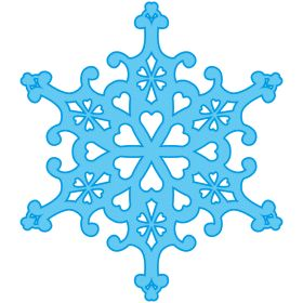 280x280 Snowflake Outline Clipart