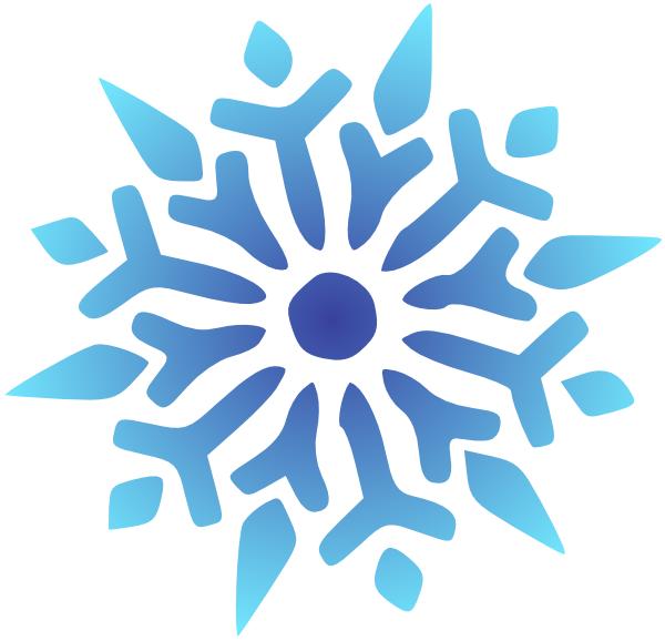 600x578 Blue Snowflake Free Clipart