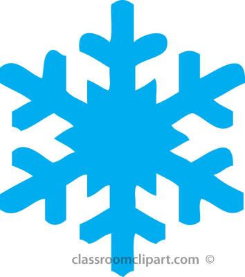 354x400 Blue Snowflake Free Clipart