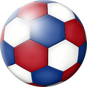 Blue Soccer Ball Clipart