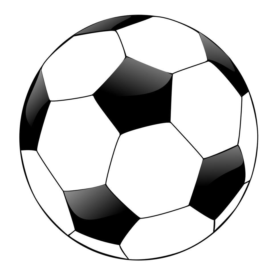 958x958 Blue soccer ball clipart free images