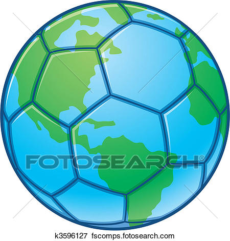450x470 Clip Art Of Planet Earth World Cup Soccer Ball K3596127