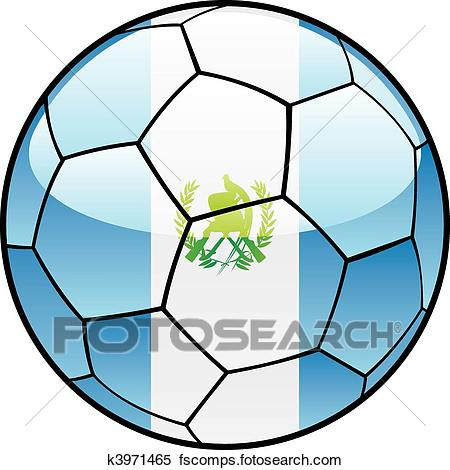 450x470 Clipart Of Guatemala Flag On Soccer Ball K3971465