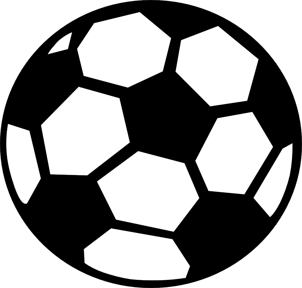1000x952 Clipart Of A Soccer Ball
