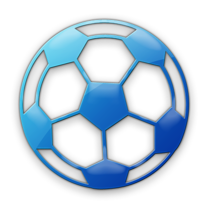 420x420 Free Blue Soccer Ball Clipart Image