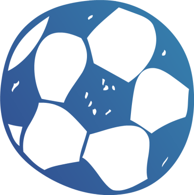 397x400 Free Blue Soccer Ball Clipart Image