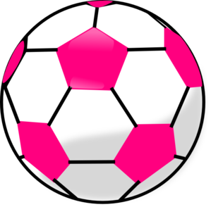 299x294 Soccer Ball With Hot Pink Hexagons Clip Art