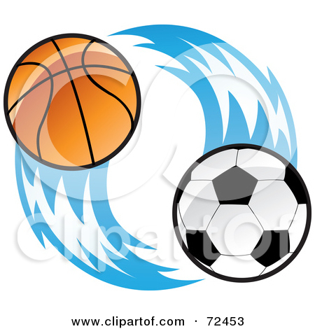 450x470 Soccer And Track Clipart