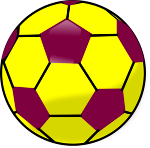 299x294 Blue And Yellow Soccerball Clip Art
