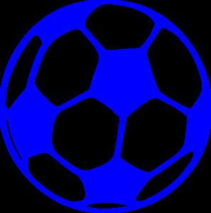 297x299 Blue Soccer Ball Clip Art