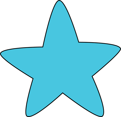 500x485 Blue Rounded Star Clip Art