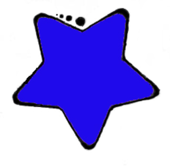 350x342 Clip Art Blue Star By Teaching To The 4th Degree Tpt