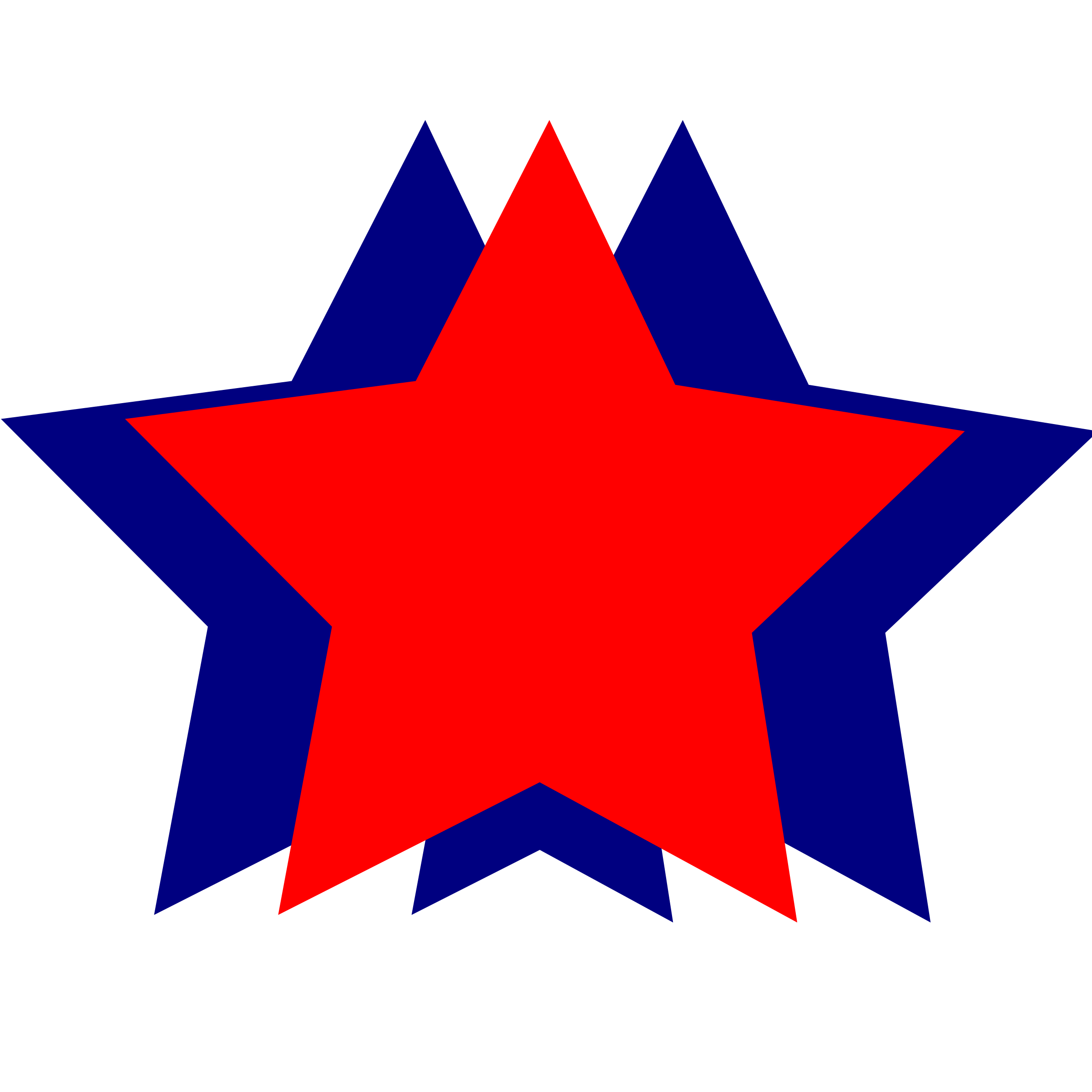 2400x2400 Star Clipart Red And Blue