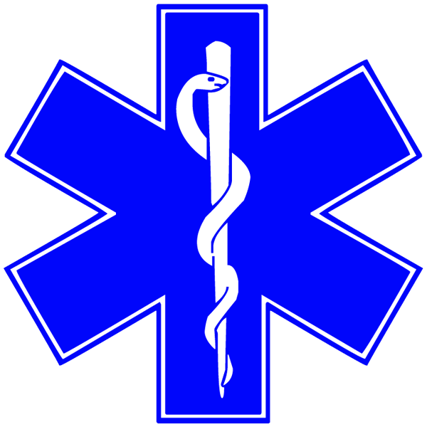 600x600 Star Of Life Symbol Clipart Image