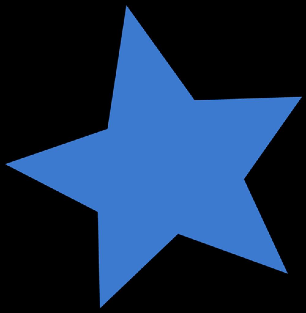 1000x1024 Blue Star Clip Art Blue Star Imagemost Png Start Clip Art Free