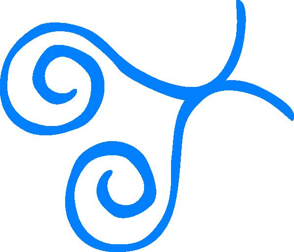 600x516 Blue Swirl Frame Bottom Left Corner Clip Art