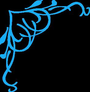 294x299 Blue Swirl Heart Clip Art