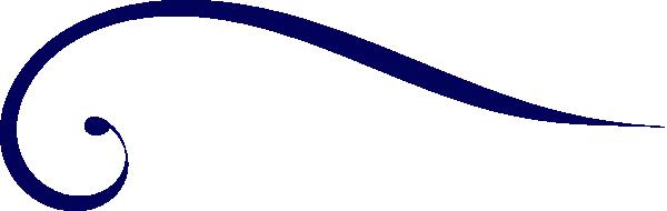 600x190 Dark Blue Clipart Swirl