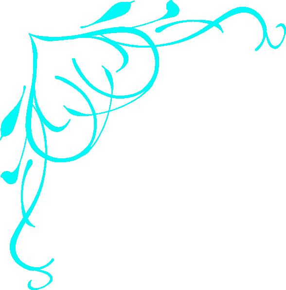 588x597 Light Blue Swirl Heart Clip Art