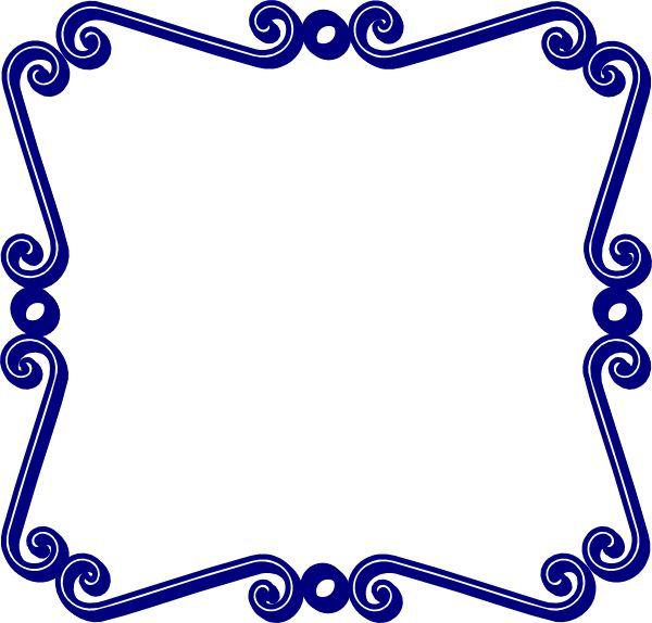 600x574 Swirl Frame Clipart