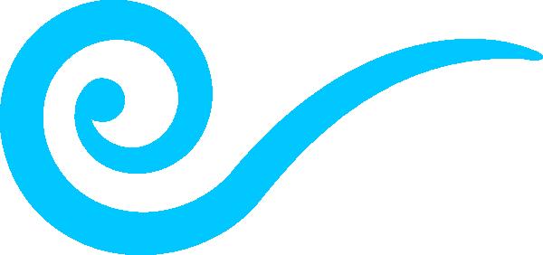 600x282 Wind Clipart Blue Swirl