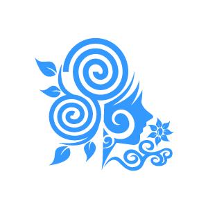 300x300 Blue Flower Clipart Swirl Flower