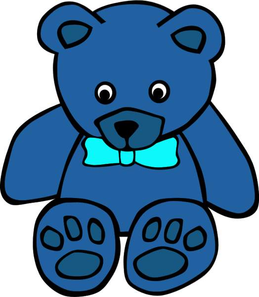 524x600 Blue Clipart