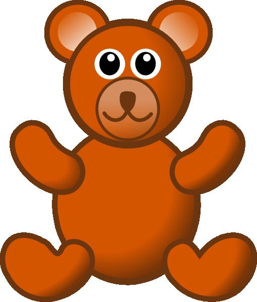 510x598 Blue Teddy Bear Clipart