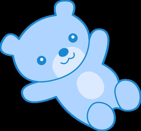 550x511 Cute Blue Teddy Bear Clipart