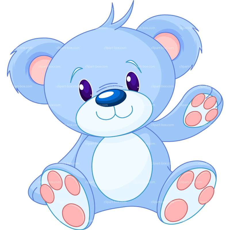 Bear blue. Teddy clipart free download