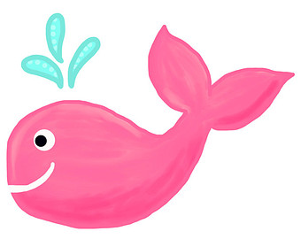340x270 Baby Whale Pink Whale Clipart 3