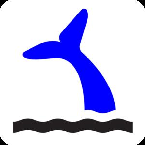 300x300 Blue Whale Tail Png, Svg Clip Art For Web