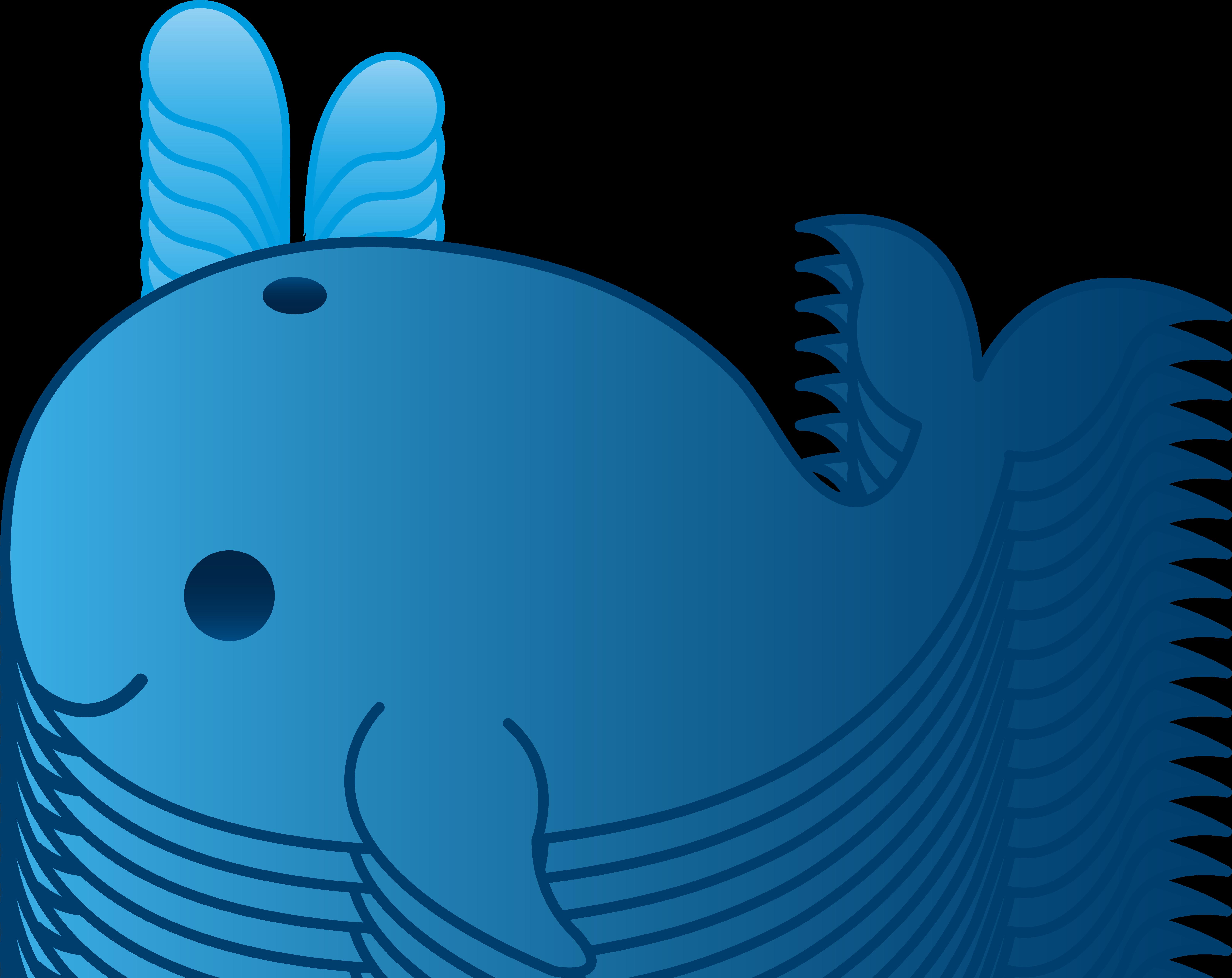 6371x5057 Little Blue Whale Clip Art