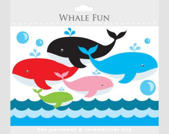 340x270 Whale Clip Art Etsy