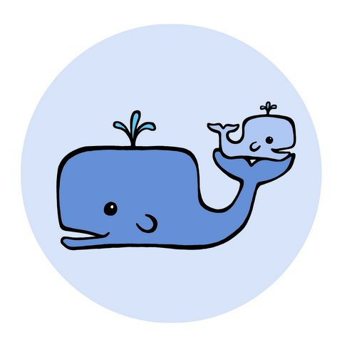 480x480 Baby Blue Whale Clip Art Free Clipart Images