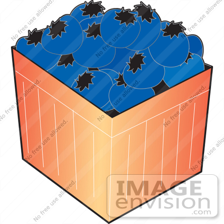 450x450 Clipart Of A Basket Of Ripe Blueberries