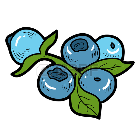450x450 Color Image, Vector Cartoon Berry, Blueberries Royalty Free