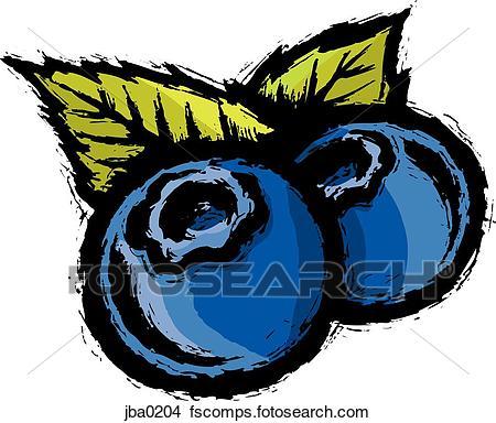450x384 Drawings Of Two Blueberries Jba0204
