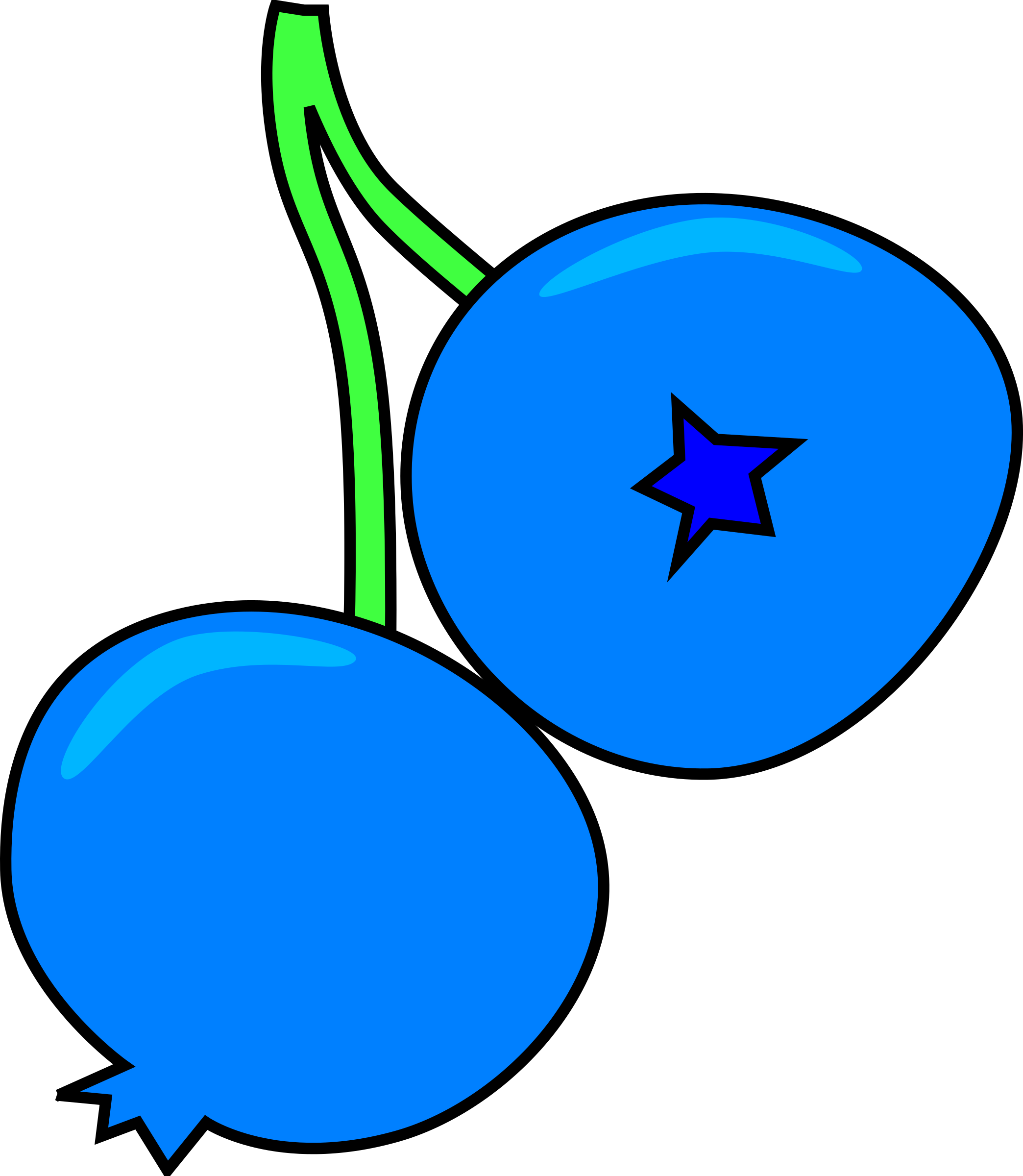 2088x2400 Berry Clipart One Blueberry