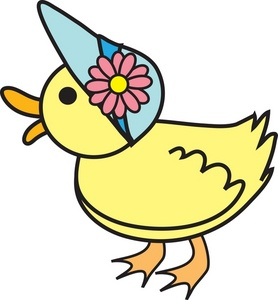 278x300 Duckling Clipart Image