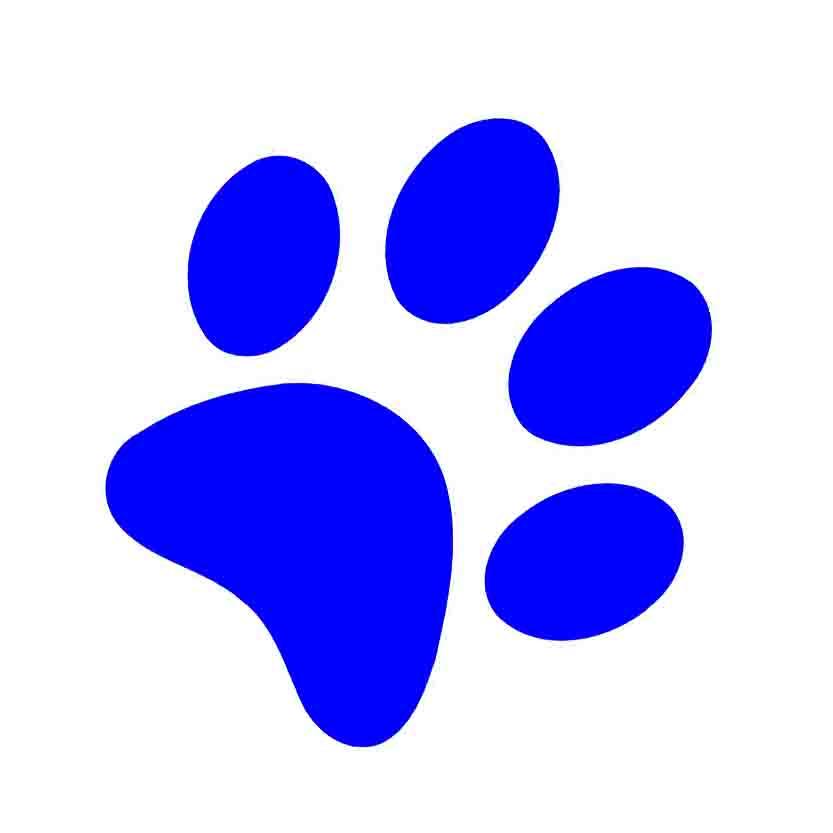 833x833 Blue Clipart Pawprint