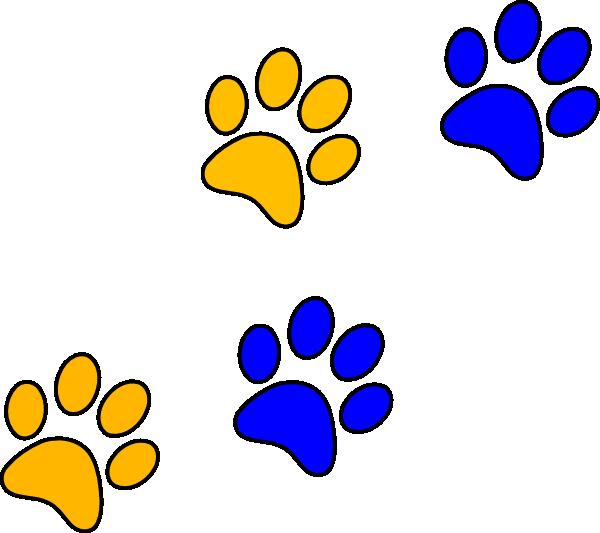 600x533 Bluegold Paw Print Clip Art