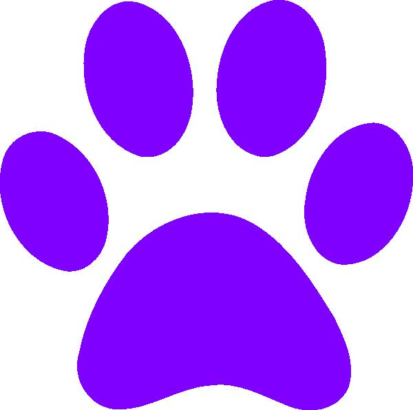 600x596 Blues Clues Purple Paw Clip Art