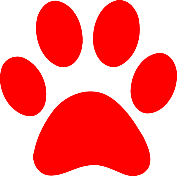 600x596 Blues Clues Red Paw Clip Art