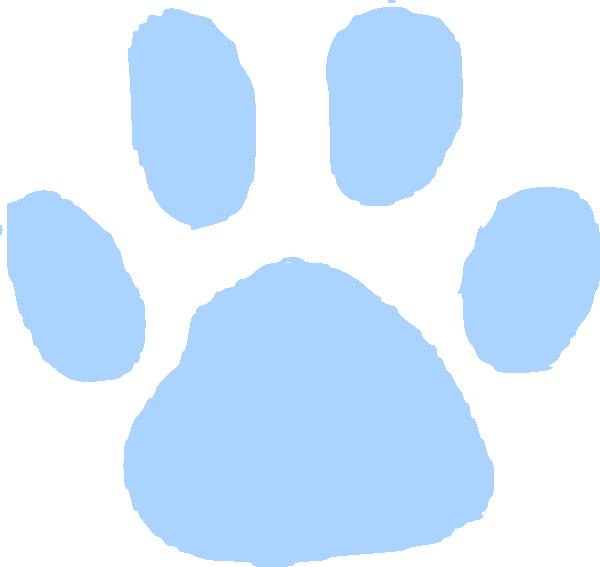 600x567 Blue Pawprint Clip Art