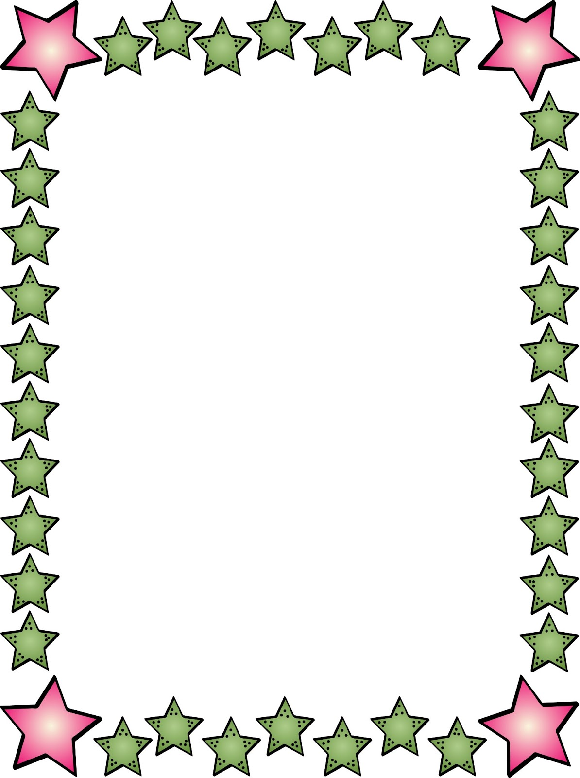 1194x1600 Star Boarder Page Clipart