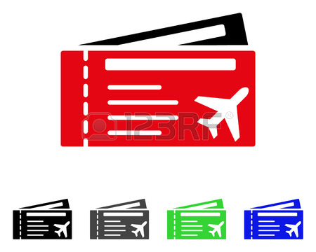 450x360 Boarding Pass Flat Vector Illustration. Colored Boarding Pass