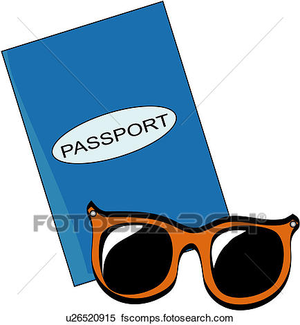434x470 Clipart Of Travel, Sunglasses, Vacation, Item, Pass, Journey