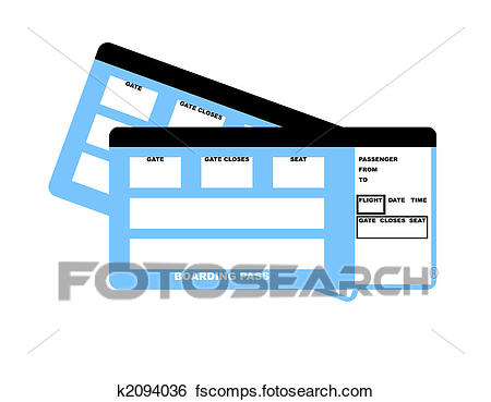 450x369 Stock Illustration Of Airline Tickets K2094036